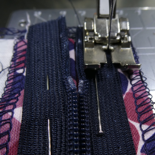 Sew onto the seam allowance