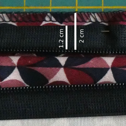 Pin onto the seam allowance