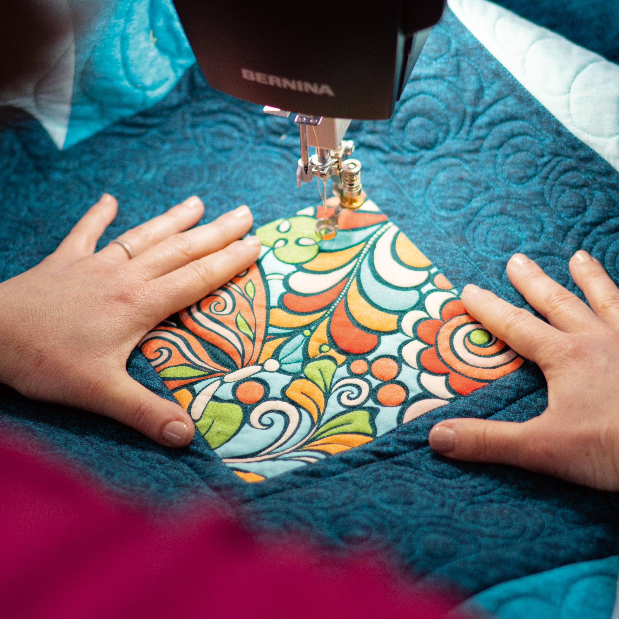 Hand-guided quilting made easy