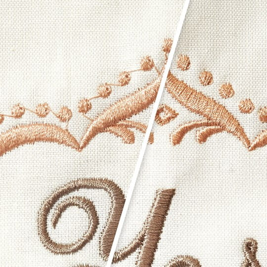 Clean and brillant embroidery