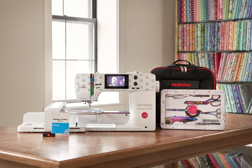 Picture: BERNINA 570 QE SE Tula Pink Bundle