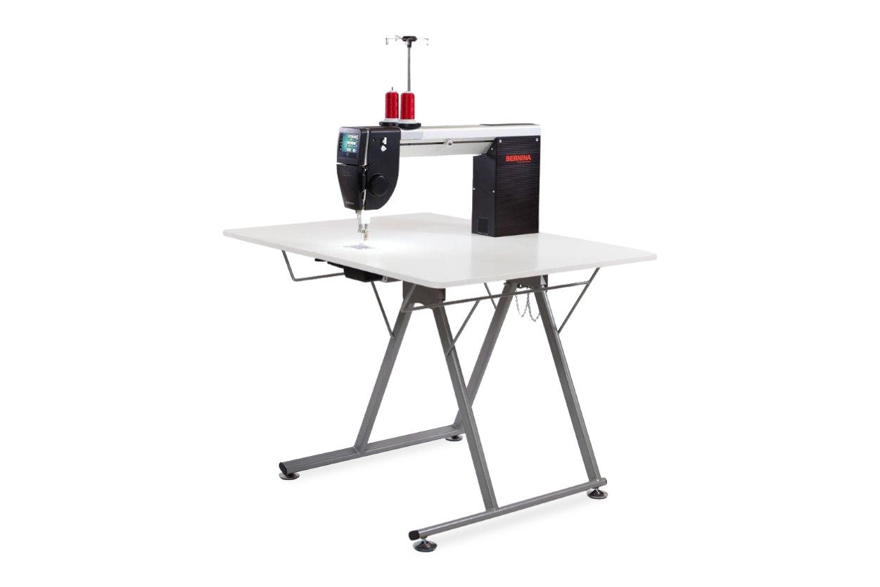Foldable table for the BERNINA Q 20 longarm
