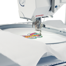 Large embroidery area