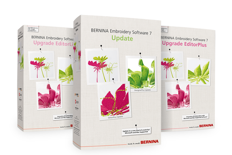 Bild: BERNINA broderisoftware 7 – Upgrade EditorPlus/ EditorLite & Update