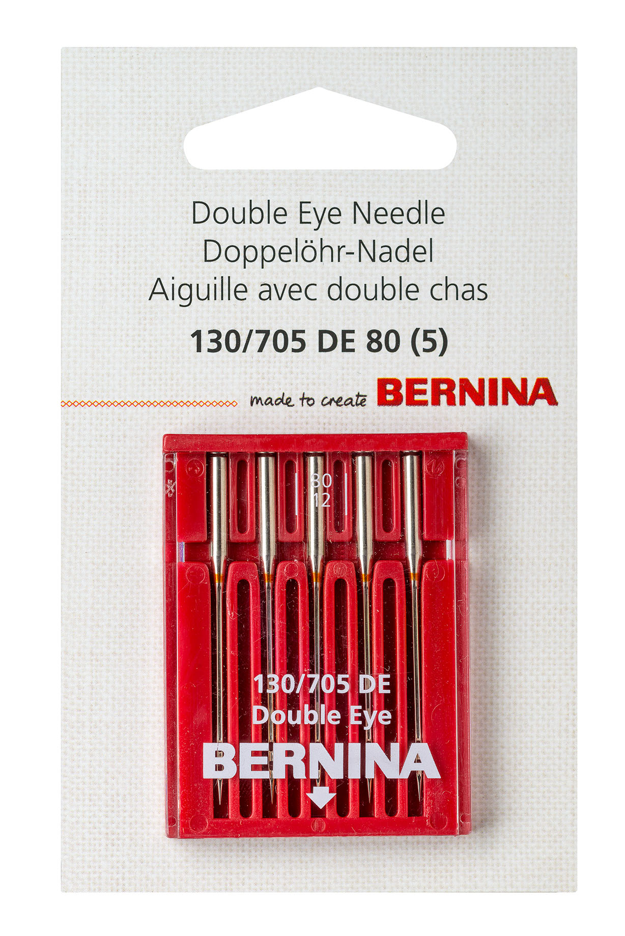 Double eye needle