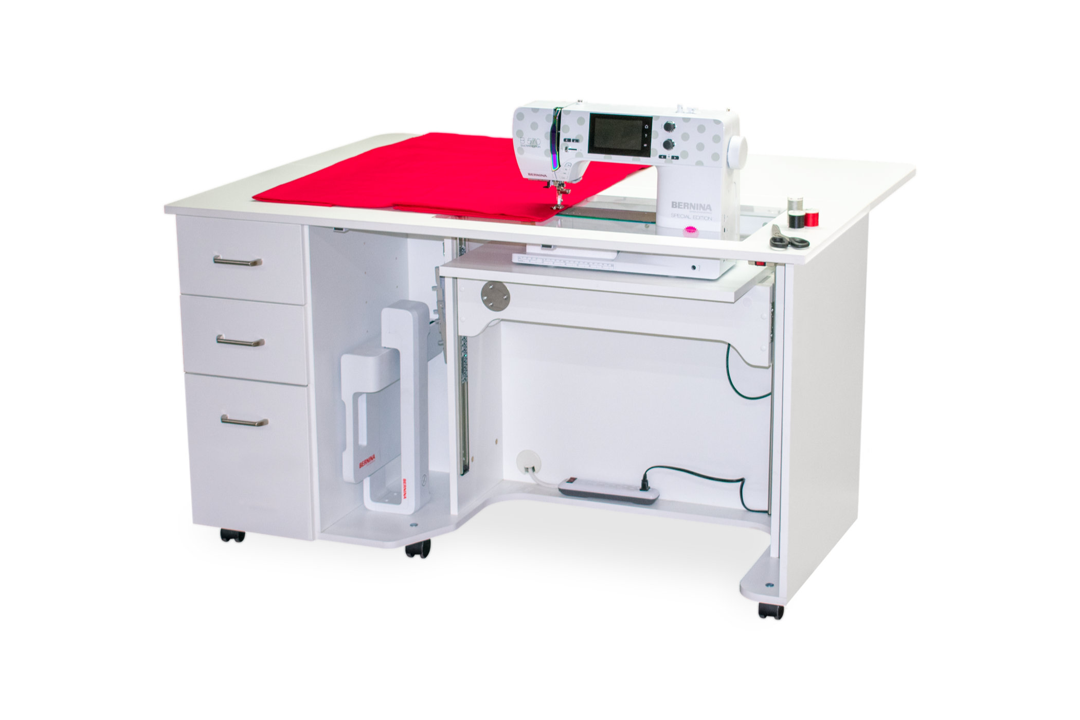 Cabinets for BERNINA sewing machines