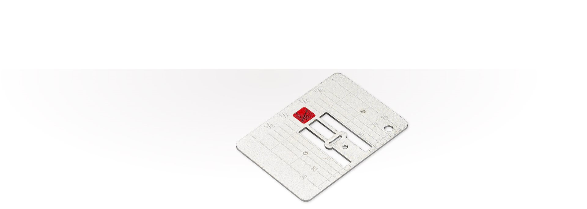 Picture: Stitch plate with narrow needle opening (5.5mm