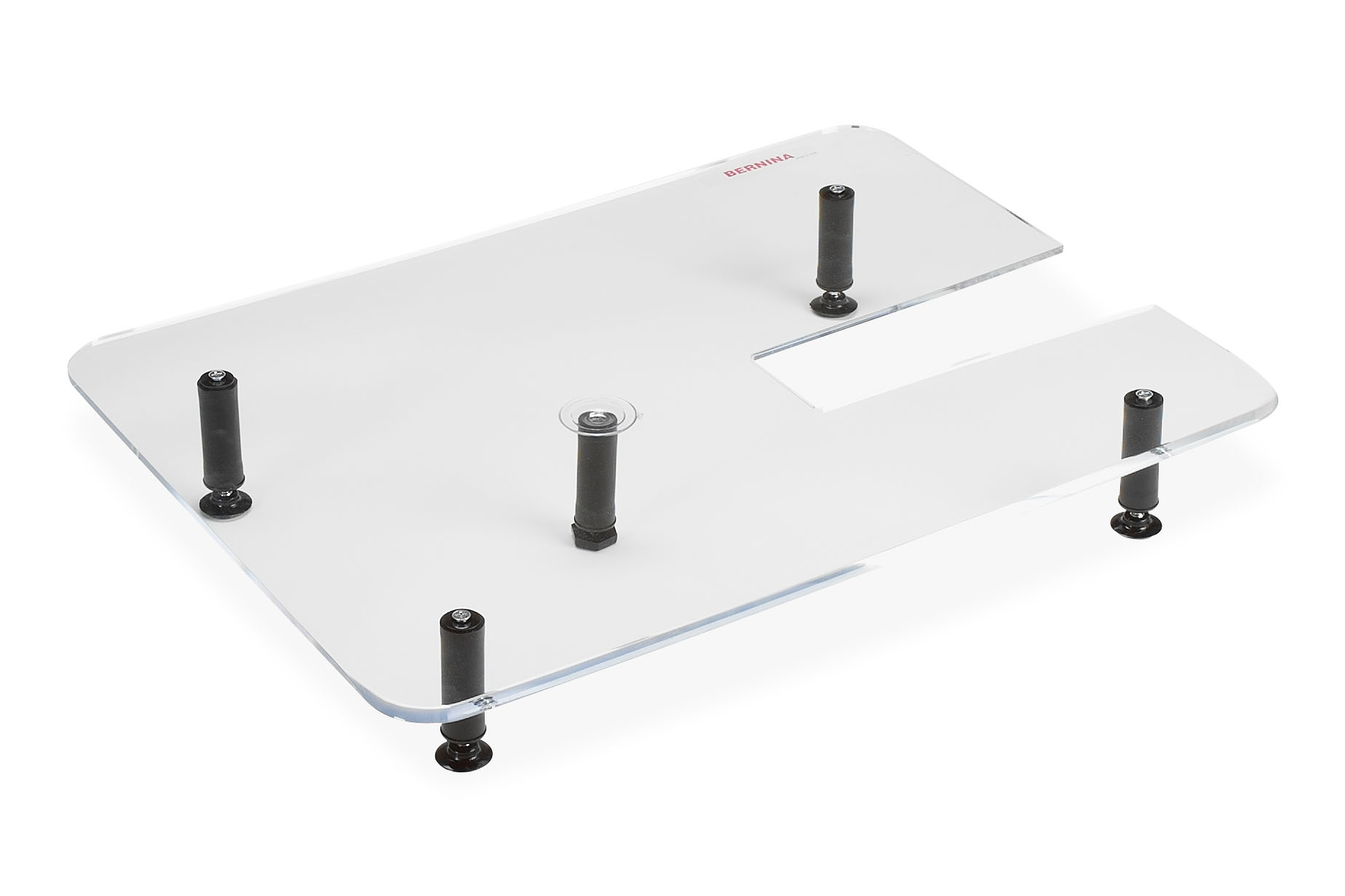 Plexiglass extension table for quilting