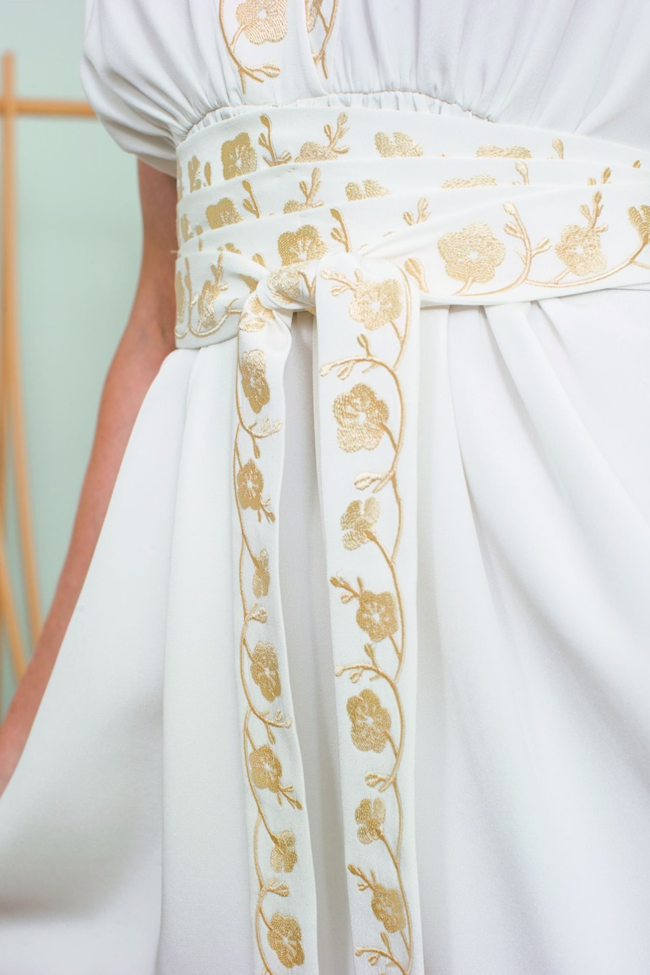 experience embroidery projects wedding dress