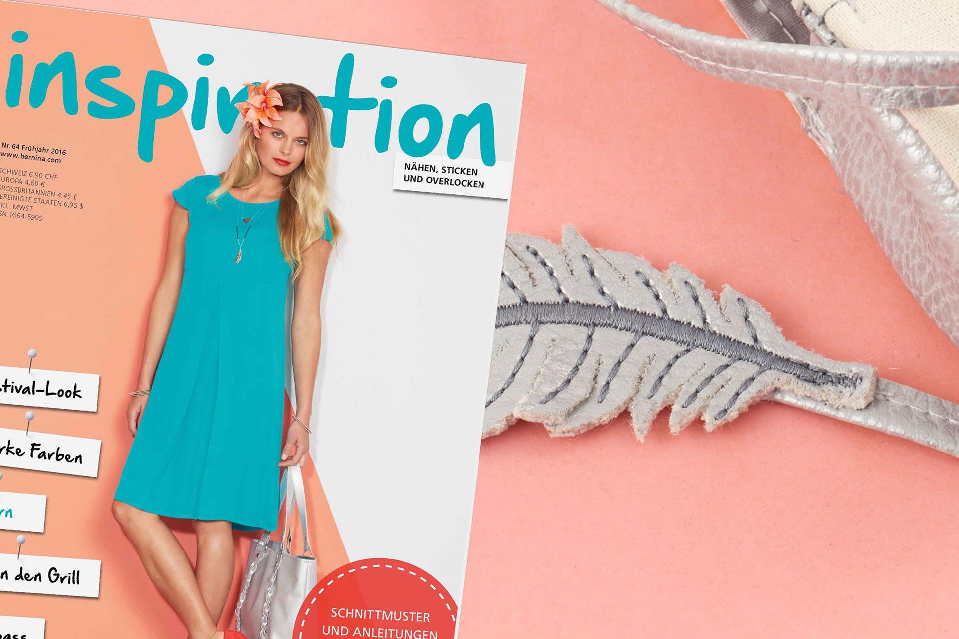 """Das BERNINA Magazin """"inspiration"""" ist ein Heft voll kreativer Ideen ..."""