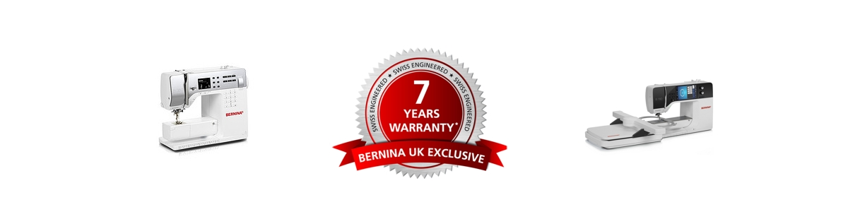 Picture: Bernina 7 Year Warranty