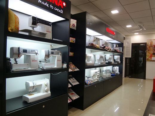 Picture: BERNINA India Showroom and BERNINA Creative Center  5/21