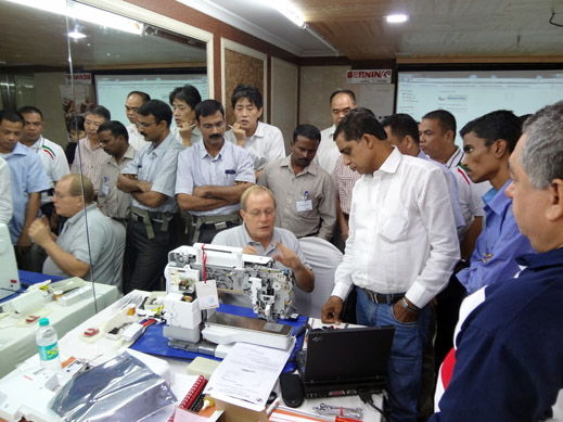 Picture: BERNINA India dealer product and technical training seminar  13/37