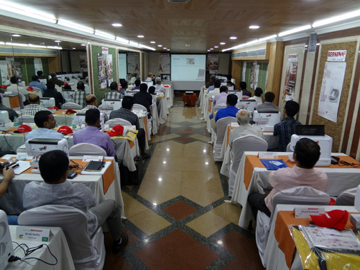 Picture: BERNINA India dealer product and technical training seminar  18/37