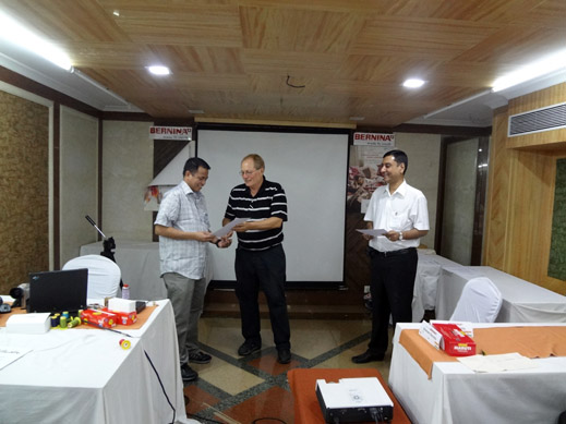 Picture: BERNINA India dealer product and technical training seminar  22/37
