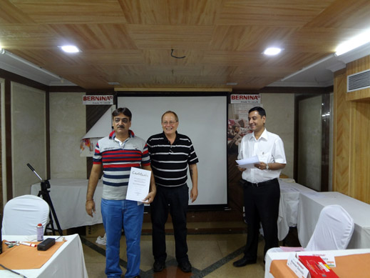 Picture: BERNINA India dealer product and technical training seminar  24/37