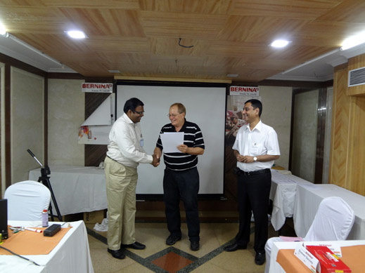 Picture: BERNINA India dealer product and technical training seminar  25/37