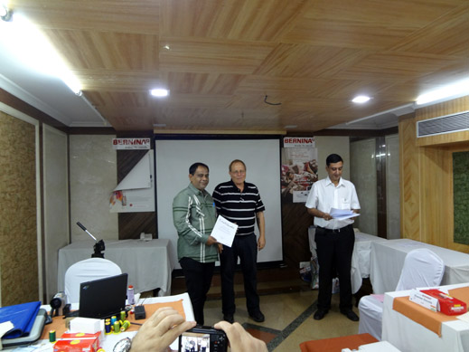 Picture: BERNINA India dealer product and technical training seminar  26/37