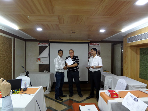 Picture: BERNINA India dealer product and technical training seminar  29/37