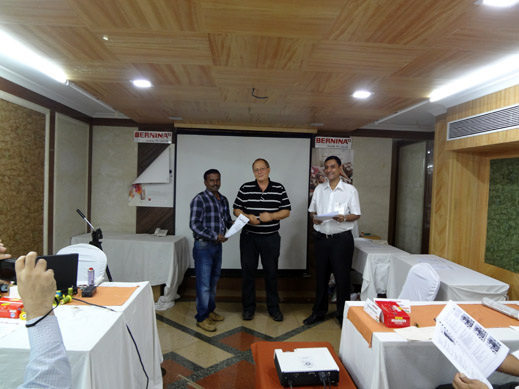 Picture: BERNINA India dealer product and technical training seminar  30/37