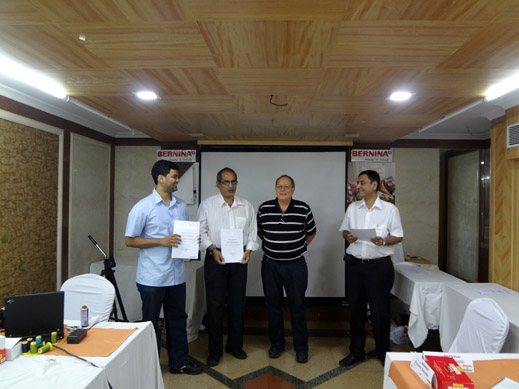 Picture: BERNINA India dealer product and technical training seminar  32/37