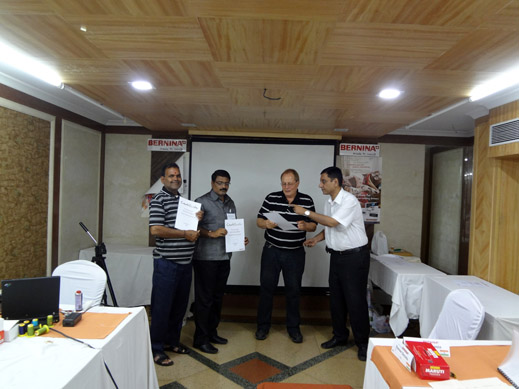 Picture: BERNINA India dealer product and technical training seminar  33/37
