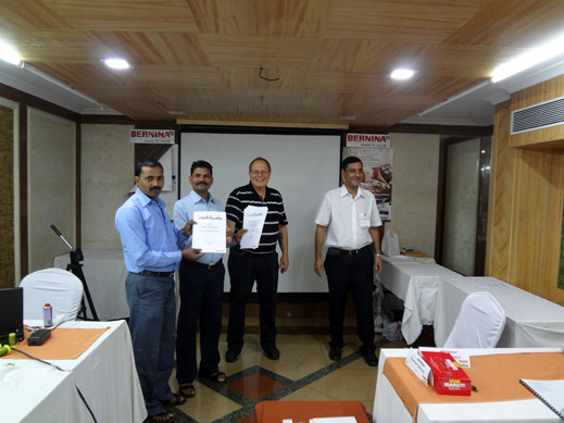 Picture: BERNINA India dealer product and technical training seminar  35/37