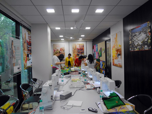 Picture: BERNINA workshop with Paramjeet Bawa at the BERNINA Creative Center  1/24