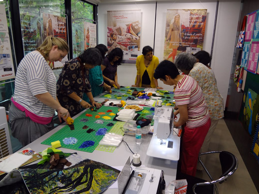 Picture: BERNINA workshop with Paramjeet Bawa at the BERNINA Creative Center  2/24
