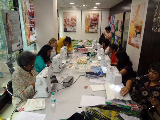 Picture: BERNINA workshop with Paramjeet Bawa at the BERNINA Creative Center  4/24