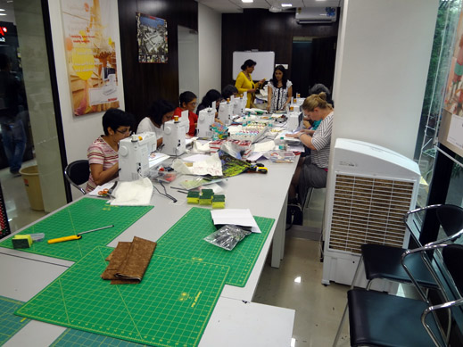 Picture: BERNINA workshop with Paramjeet Bawa at the BERNINA Creative Center  8/24