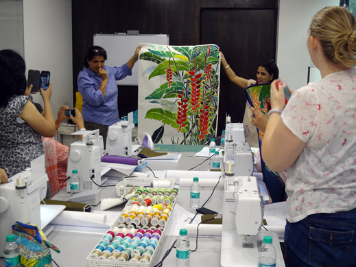 Picture: BERNINA workshop with Paramjeet Bawa at the BERNINA Creative Center  10/24