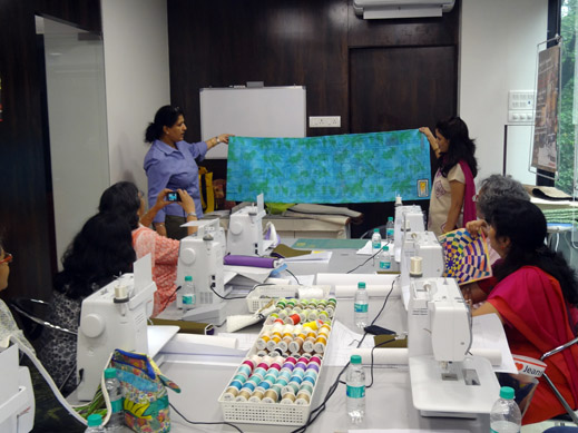 Picture: BERNINA workshop with Paramjeet Bawa at the BERNINA Creative Center  11/24