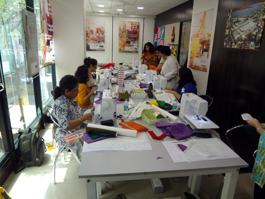 Picture: BERNINA workshop with Paramjeet Bawa at the BERNINA Creative Center  21/24