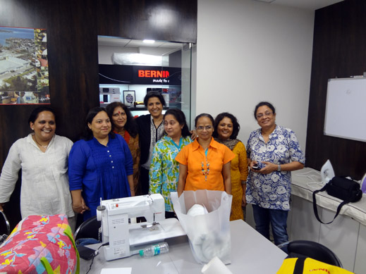 Picture: BERNINA workshop with Paramjeet Bawa at the BERNINA Creative Center  22/24