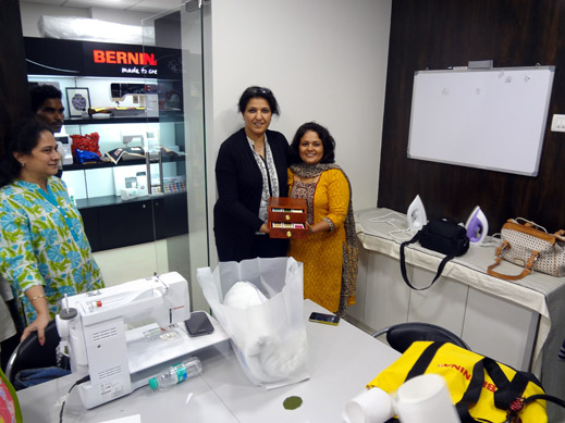 Picture: BERNINA workshop with Paramjeet Bawa at the BERNINA Creative Center  23/24