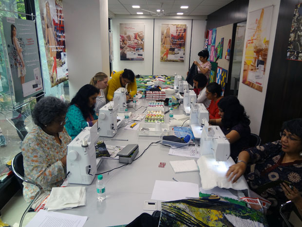 Picture: BERNINA workshop with Paramjeet Bawa at the BERNINA Creative Center  24/24