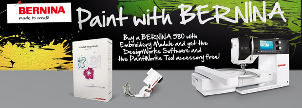 Paint with BERNINA : Get the DesignWorks Software and the PaintWorks Tool accessory free