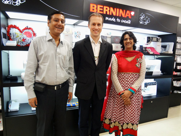 Picture: BERNINA Vice President - Sales visits BERNINA Creative Center  1/3