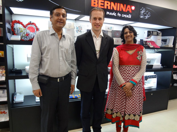 Picture: BERNINA Vice President - Sales visits BERNINA Creative Center  2/3