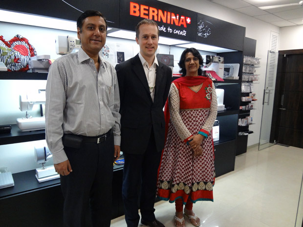 Picture: BERNINA Vice President - Sales visits BERNINA Creative Center  3/3