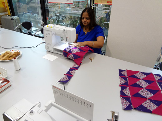 Picture: Get Creative ! Join the NEW patchwork,quilting and embroidery courses and workshops at the BERNINA C  23/139