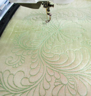 machine embroidery quilting in the hoop