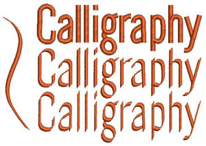 BERNINA Embroidery Software 7 – Calligraphy