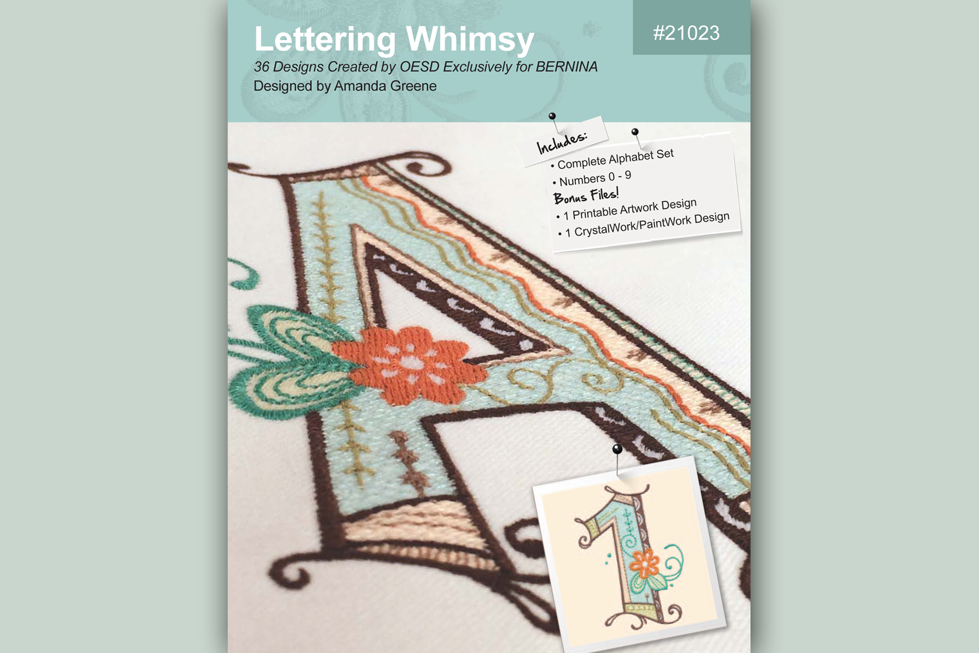 Lettering Whimsy – BERNINA Embroidery Collection #21023