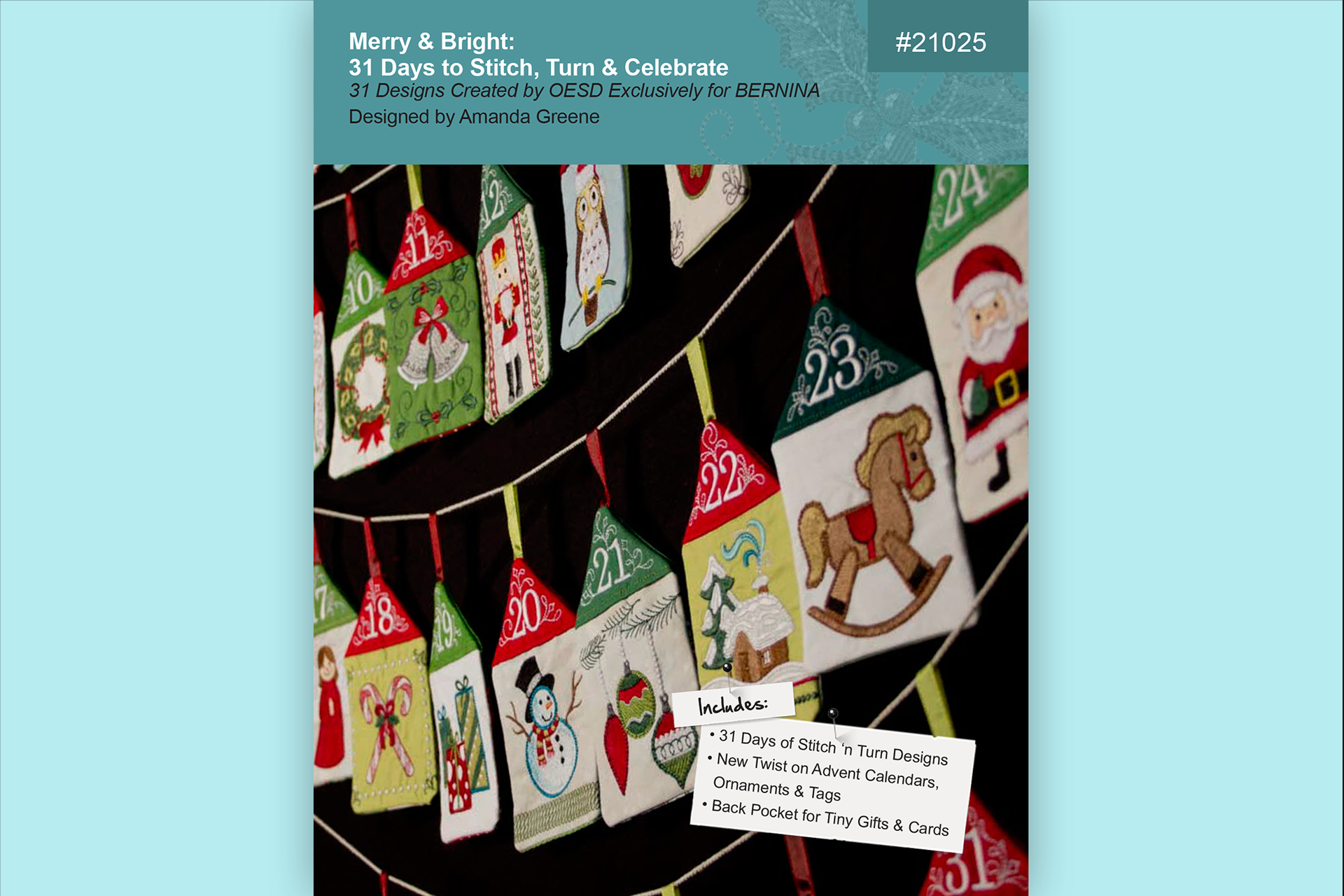 Merry and Bright – BERNINA Exclusive Embroidery Collection #21025