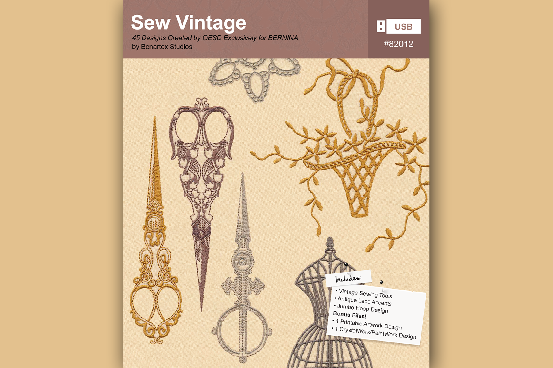 Sew Vintage – BERNINA Embroidery Collection #82012