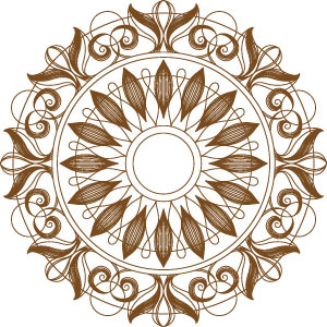 Medallion Printable Motif from BERNINA's Exclusive Collection  - Sepia Petals #82001