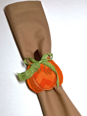 In-the-Hoop Pumpkin Napkin Ring - Learn & Create - BERNINA