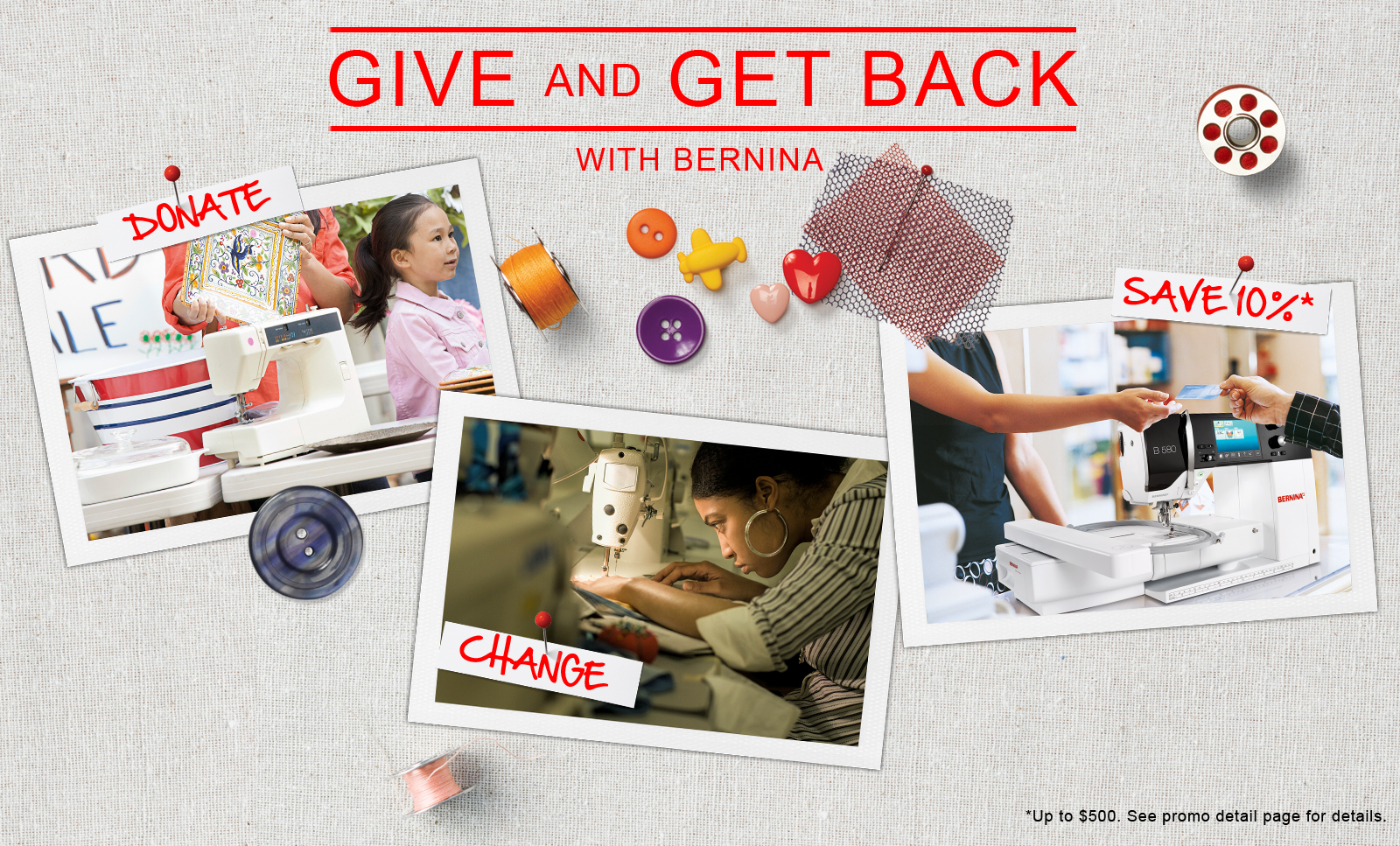 BERNINA Give and Get Back